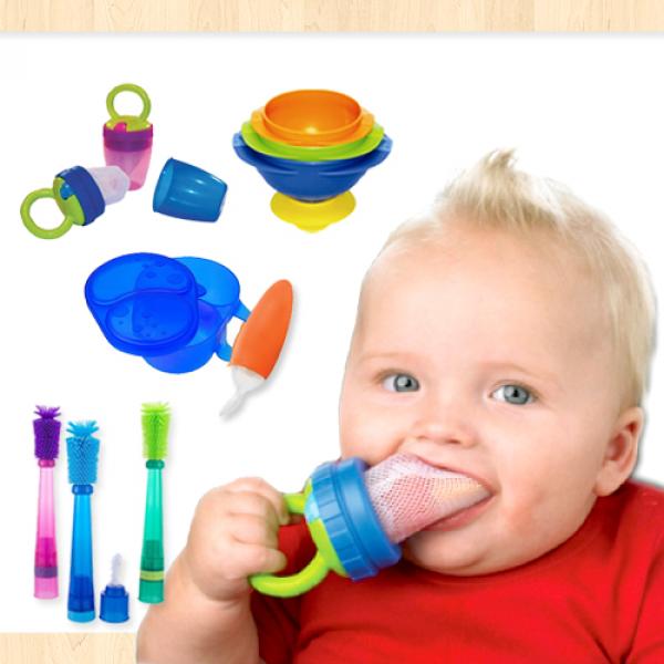 【寶寶愛吃】Sassy 外出咬咬水果棒/ 3 IN 1吸盤碗 / 寶寶湯匙