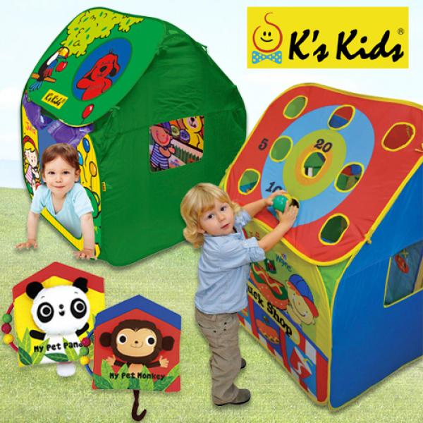 【美國K's Kids 益智玩具】 寶寶的秘密基地 立體魔法球屋 / 立體火車站 / 幼兒布書組