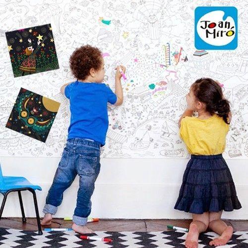 西班牙Joan Miro美樂小小畫家組❤超級大畫家/主題刮畫紙/絲滑旋轉蠟筆/靜電重覆貼貼畫冊