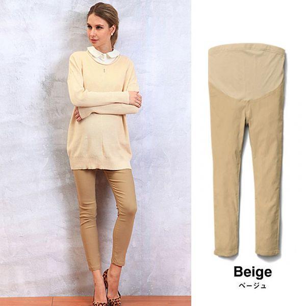 日本 SWEET MOMMY 伸縮彈性顯瘦美腳孕婦褲