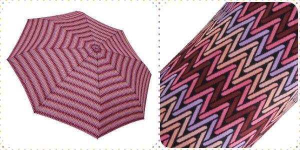 Rainstory 超大自動親子傘:幾何織紋(桃紅)