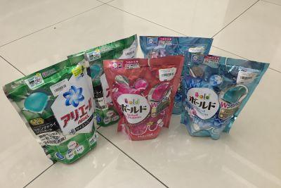 日本 P&G - 洗衣膠球-粉紅牡丹花香+柔軟精-18顆入/盒 by 妤兒