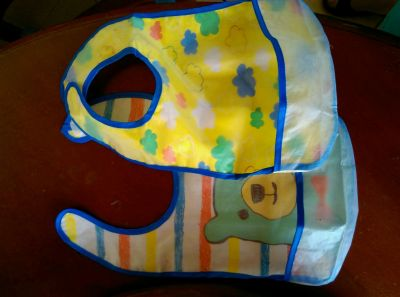 akachan honpo - 嬰幼兒防水圍兜2件組 B-藍色 by Eva Kuan