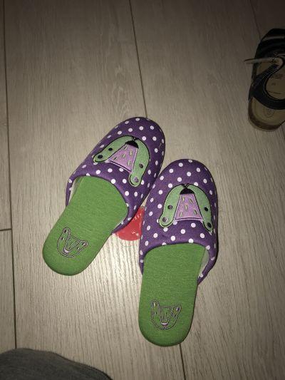 日本isso ecco - 日本製小童室內拖鞋-熊熊-粉紫 (22cm) by sharonlo