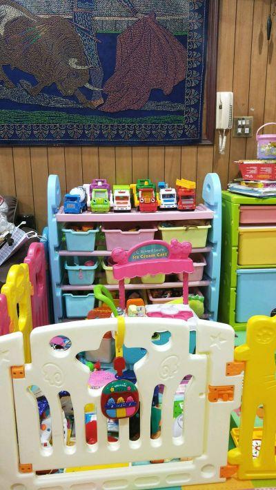 WOOHOO - 兒童玩具收納櫃-四層寬版-粉側板-含大小收納盒 by May Guo