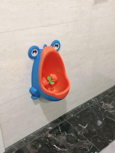 可愛青蛙造型男寶寶訓練尿尿小便斗-藍 by Ashley