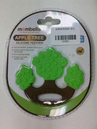 英國 mombella - 蘋果樹固齒器-綠色 by Alice Hu