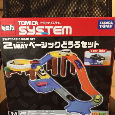 TOMICA - 交通世界SYSTEM 2WAY創意軌道組(活動送小車隨機2款)-2WAY軌道*1+隨機小車2款 by Irene Wu