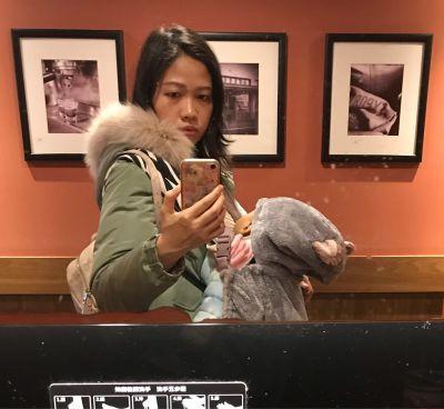日本 BISQUE - 動物造型推車/背巾超柔軟保暖罩-小貓-灰 by 燕