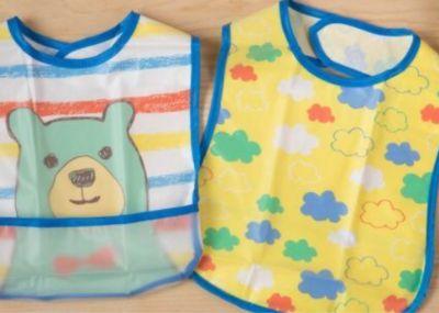 akachan honpo - 嬰幼兒防水圍兜2件組 B-藍色 by 張槙槙