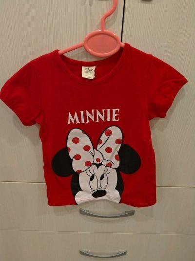 麗嬰房 Disney - 米妮系列閃亮女孩圓領上衣-紅色 by Amanda Hsiao