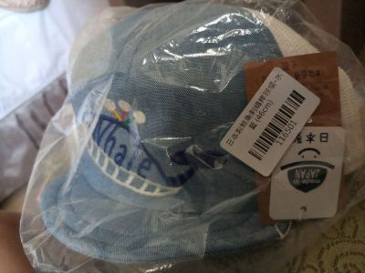 日本 SHAPOX - 日本製鯨魚刺繡棒球帽(附彈性帽帶)-水藍 by Mika Chen
