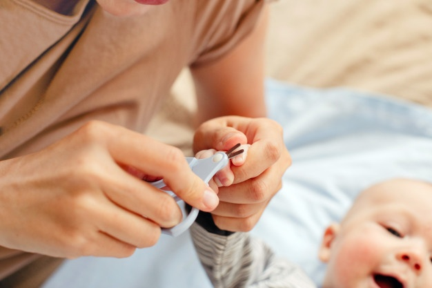 Nail and finger manicure for baby