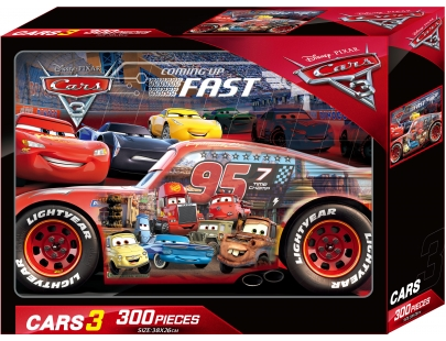 Cars 3 300片盒裝拼圖(A)