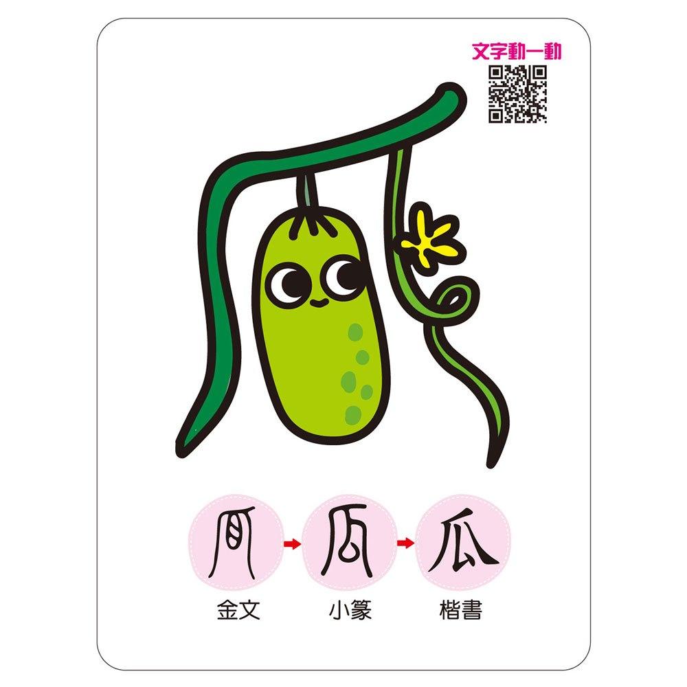 記憶認字圖畫卡:動物植物