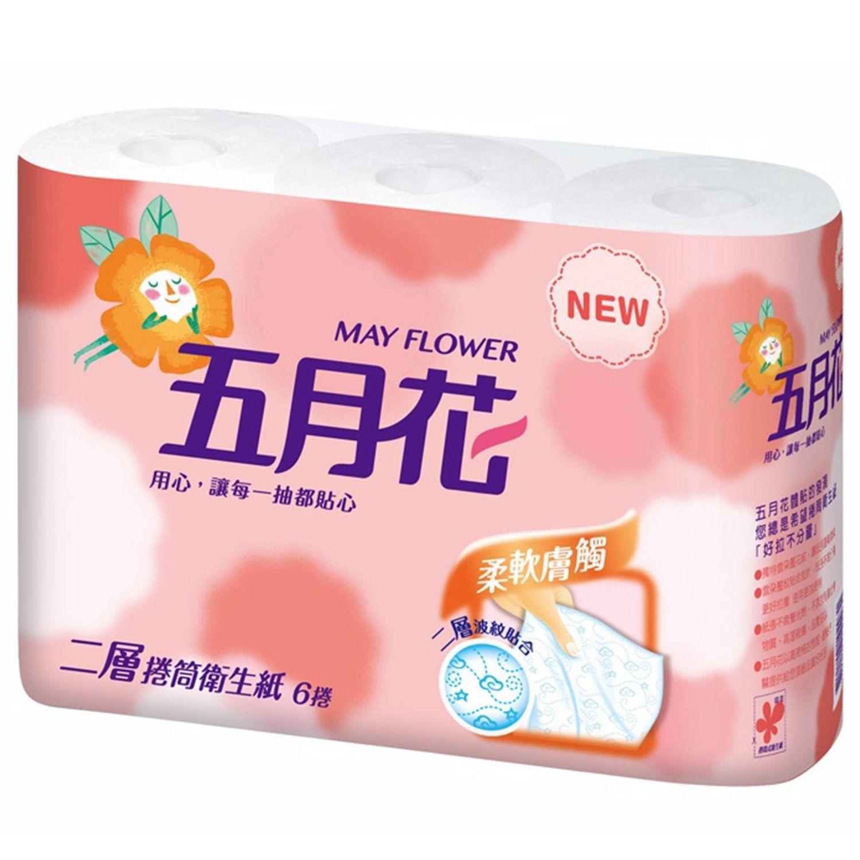 五月花 - 捲筒式衛生紙-柔韌版-270張x6捲x16袋