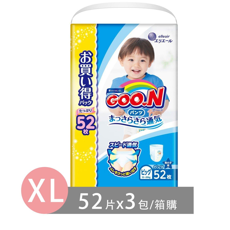 GOO.N 日本境內大王NHK阿福狗版尿布-褲型(特規版) (男XL [12-20 kg])-52片x3包/箱