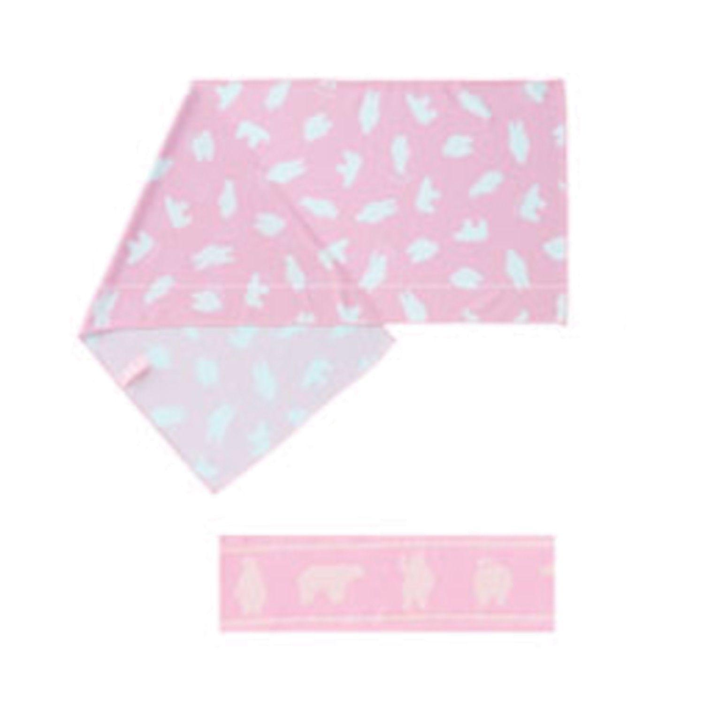 90% UV CUT 冷感毛巾(附領巾綁帶)-北極熊-粉 (30x90cm)