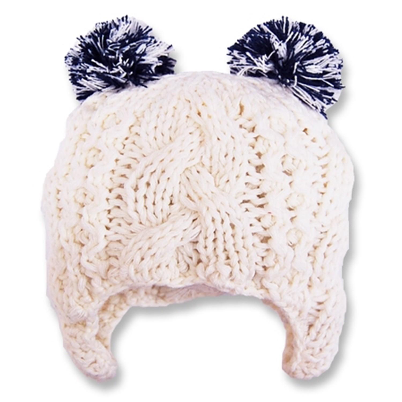 可愛造型冬帽-小童款-白底藍耳 (Free size(48~52cm))
