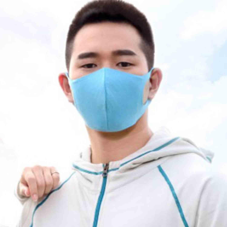 ESCURA - 多機能防霾美顏天絲親膚口罩-亮藍 (M)