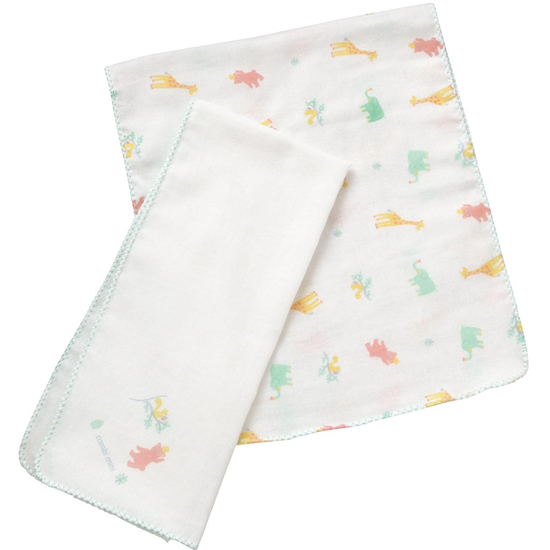 純棉紗布澡巾2入-動物園 (F (23.5x70cm))