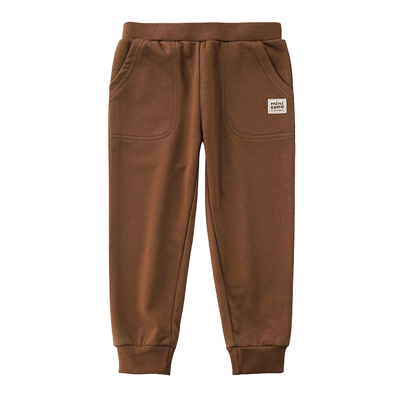 大口袋運動褲-咖啡色 (100cm)