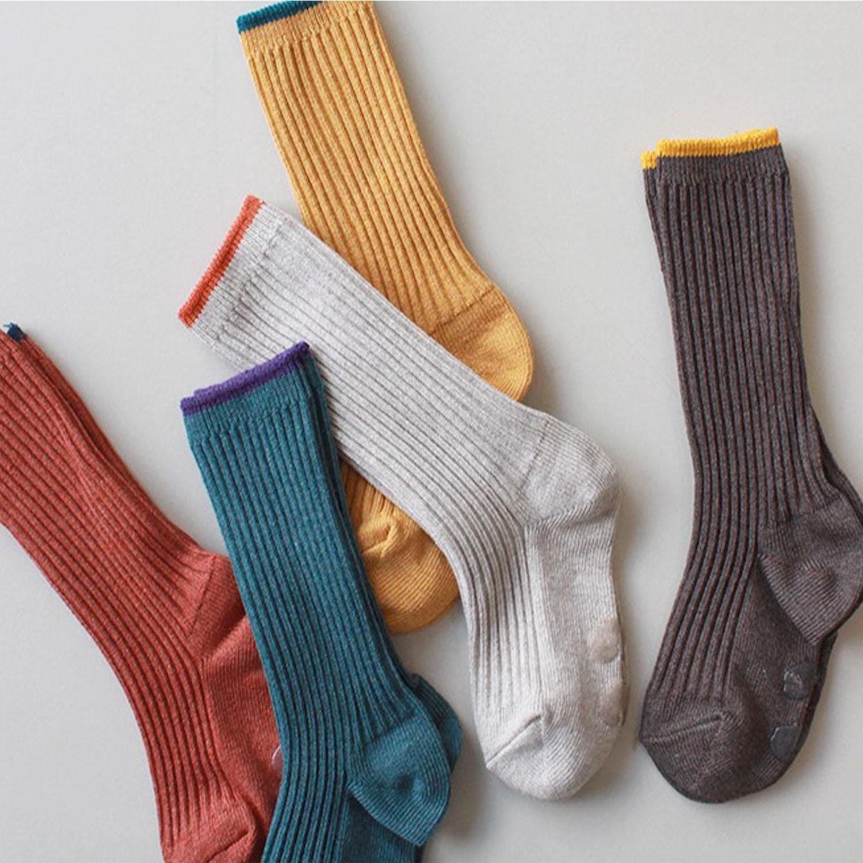 韓國製及膝襪-五件組-Jupiter (S [13~15cm])-紙盒裝