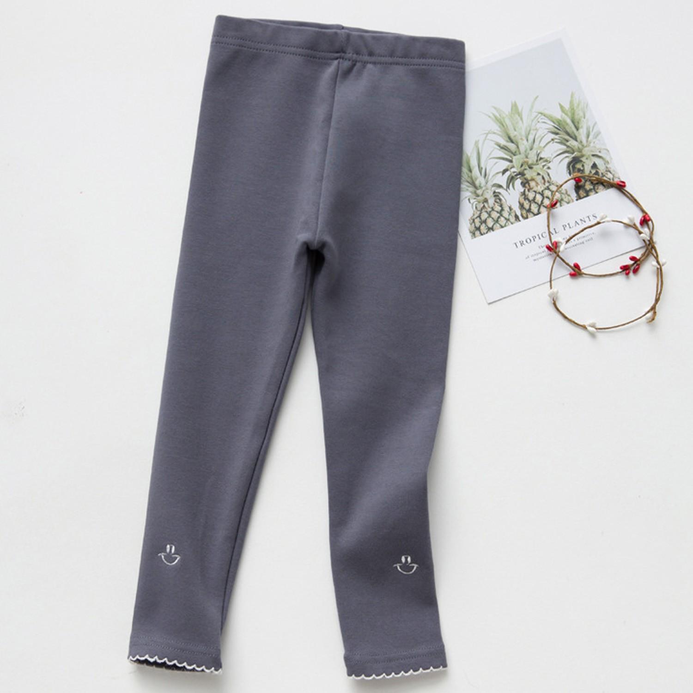 內搭褲-笑臉-灰藍色 (100cm)