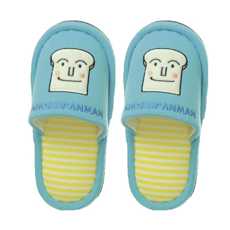 兒童室內拖鞋-吐司麵包超人-水藍 (14-16cm)