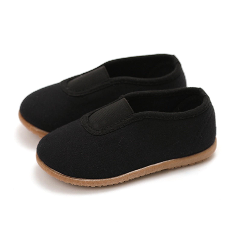 純棉透氣兒童休閒鞋/室內鞋-黑 (130)