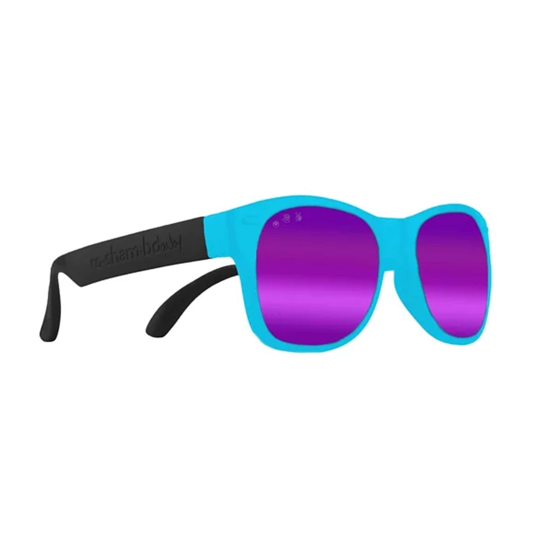 Roshambo繽紛視界 時尚墨鏡-寶寶款-藍黑雙色-偏光鏡片紫 (0-3Y)