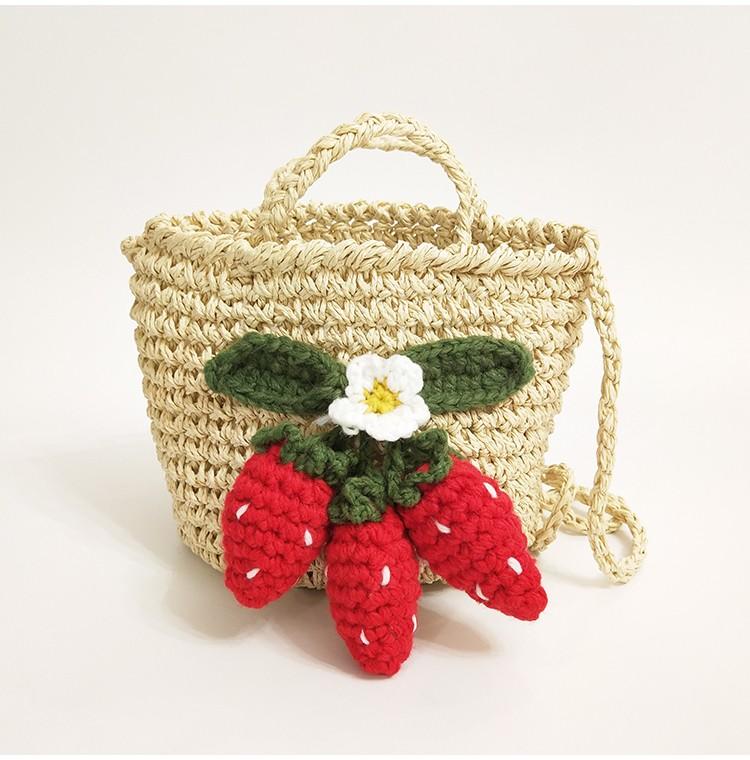 草莓復古2way包