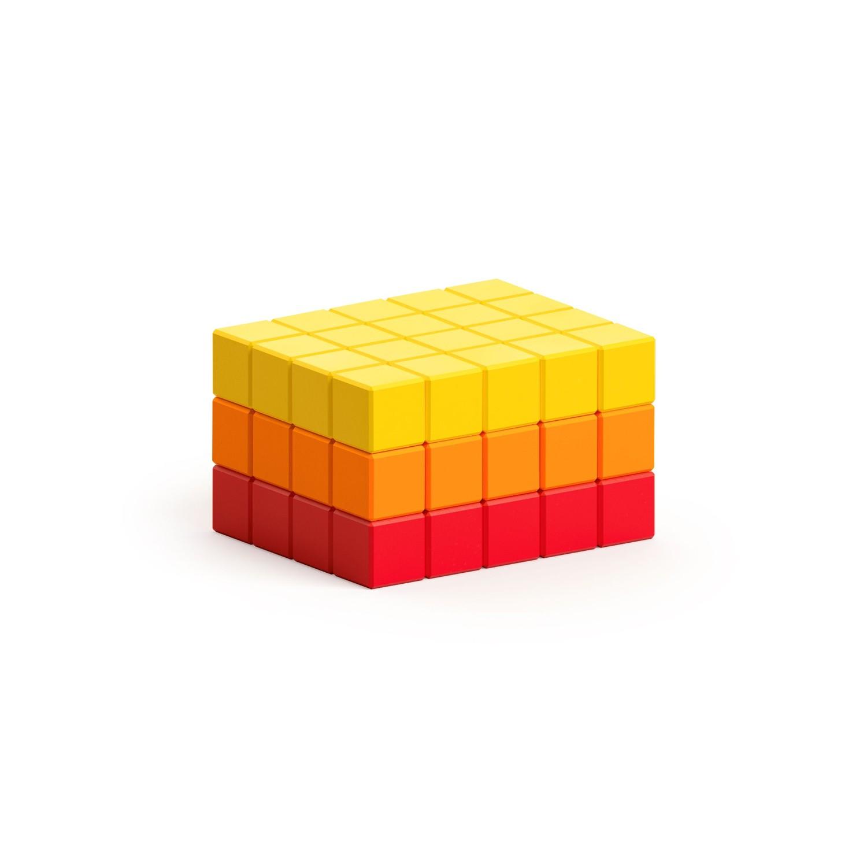 磁力像素小魔方-抽象系列-夏日豔陽60
