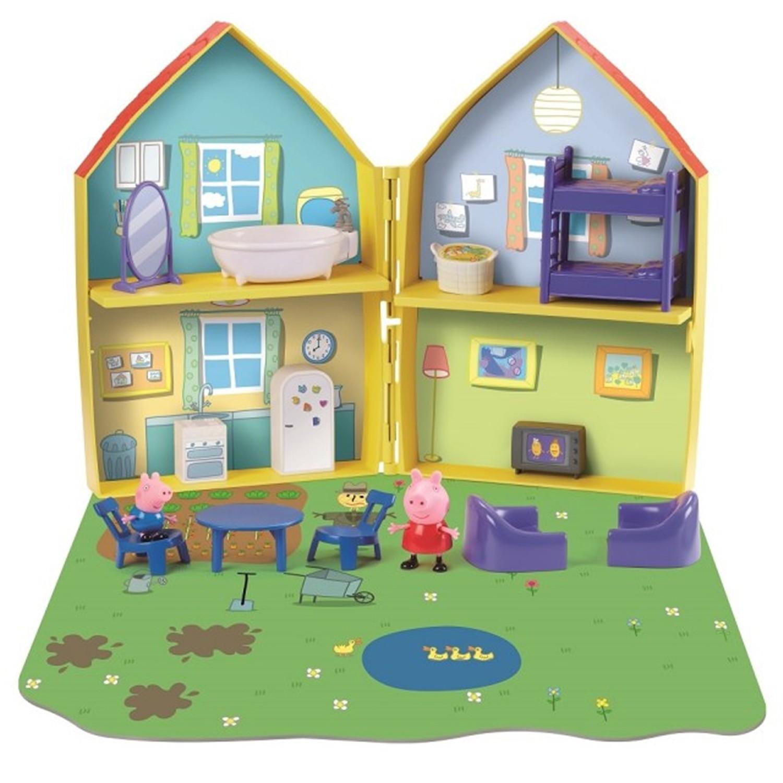 【新品】粉紅豬小妹-夢幻對開房屋組