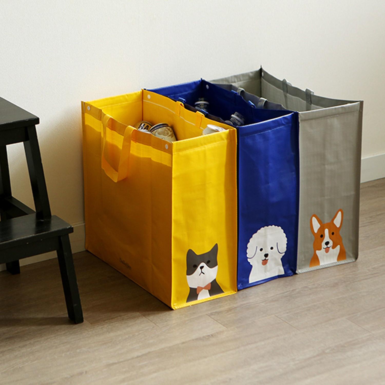 組合式衣物/玩具收納袋(3入)-貓咪X貴賓狗X柯基