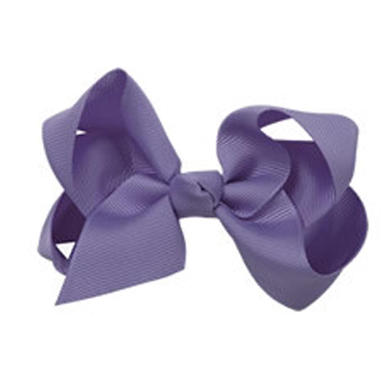 浪漫蝴蝶結髮夾-高貴紫(5-lilacgray) (大)