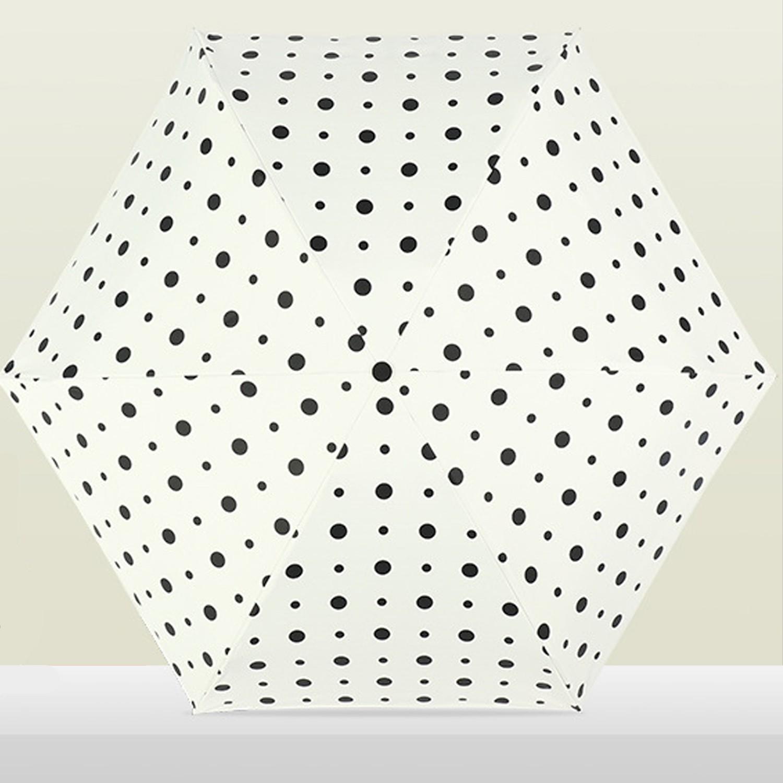【抗UV晴雨兩用】超輕手掌傘-普普圓點-純白