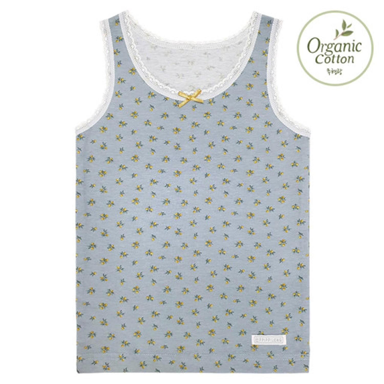 有機棉透氣內衣(女寶)-滿版檸檬花 (60[實歲2-3Y])