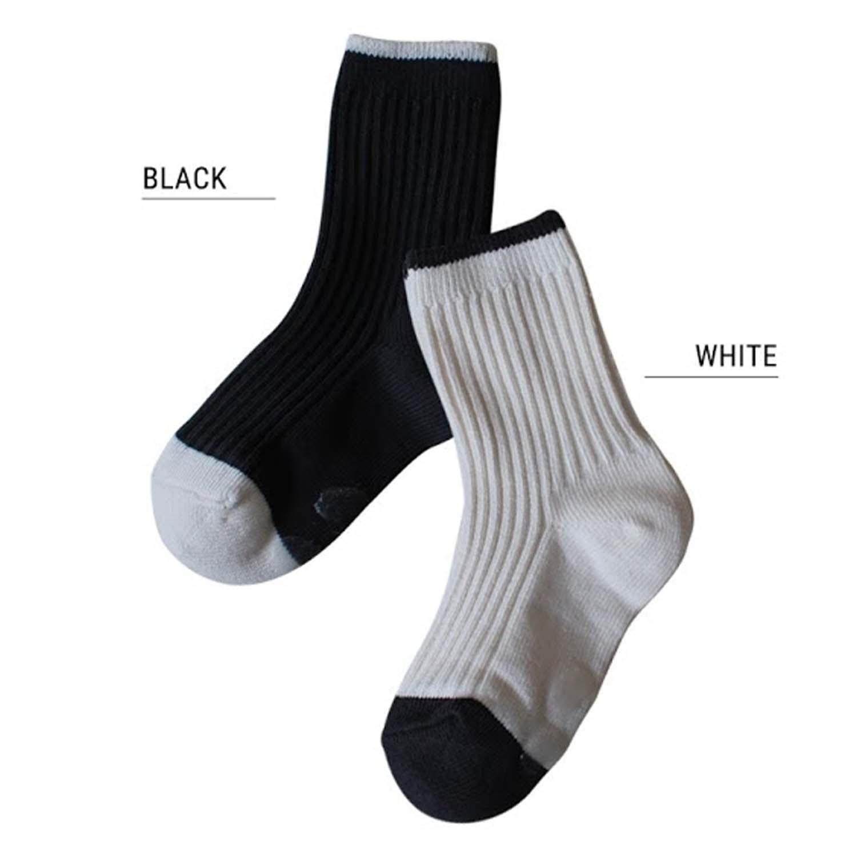 韓國製踝襪-兩件組-Black&White (S [13~15cm])
