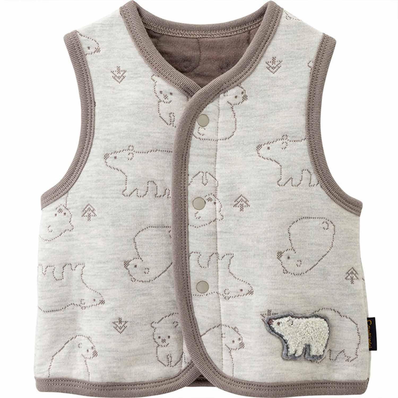 mini系列-厚棉保暖背心-北極熊-香草卡士達 (70)