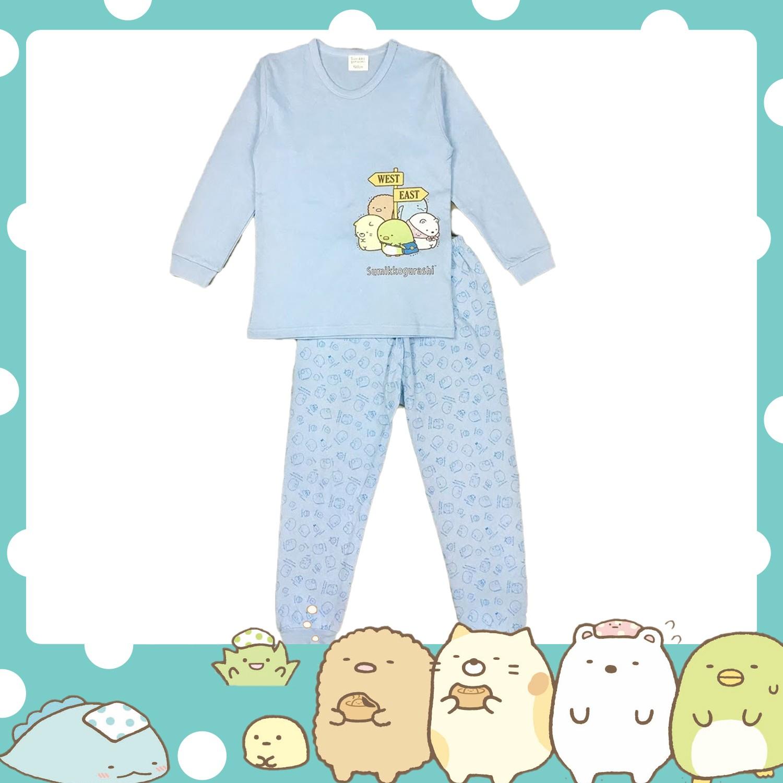 男童厚棉套裝-厚棉款-藍 (110cm)