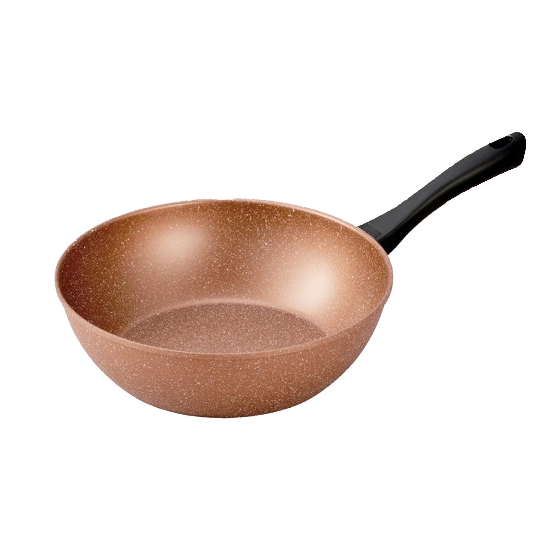 極輕古銅金不沾炒鍋-28cm