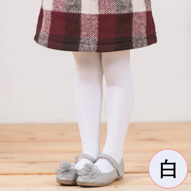 女童彈性褲襪-純色(2雙組)-白色 (SS-S(75-110cm))