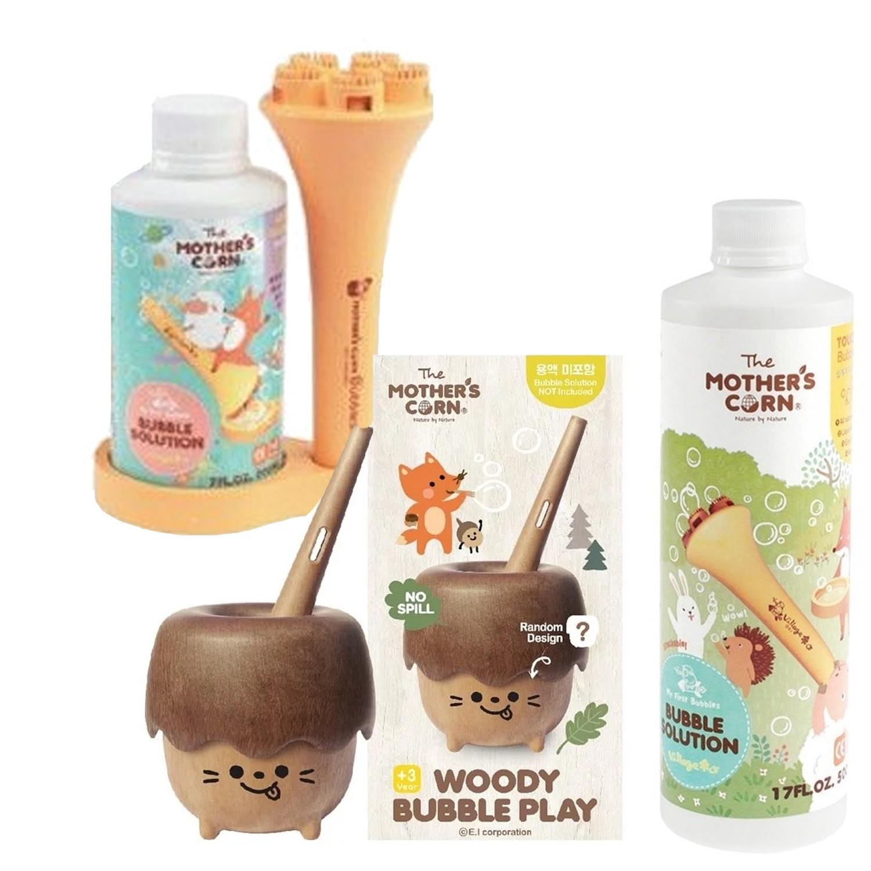 小木森林兒童泡泡玩具 (不含泡泡水)+兒童專用超多泡泡組+兒童專用不易破泡泡補充罐(500ml)