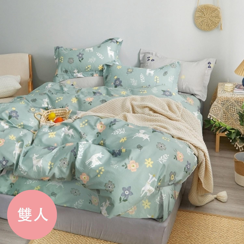極致純棉寢具組-夢遊仙境-雙人四件式床包被套組