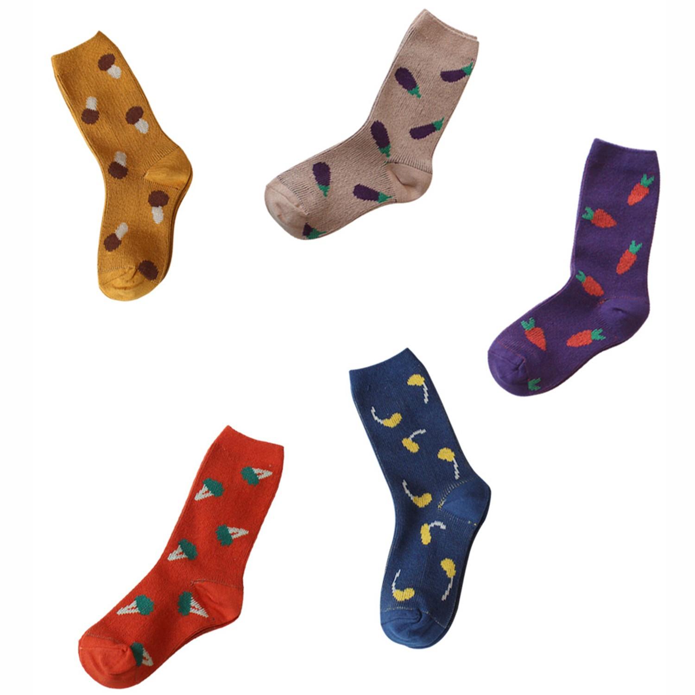 韓國製踝襪-Veggie Party (M [15~17cm])-五件組