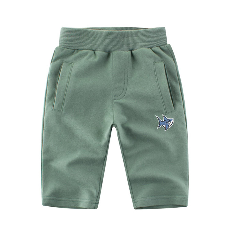 鯊魚圖標七分褲-艾綠 (90cm)