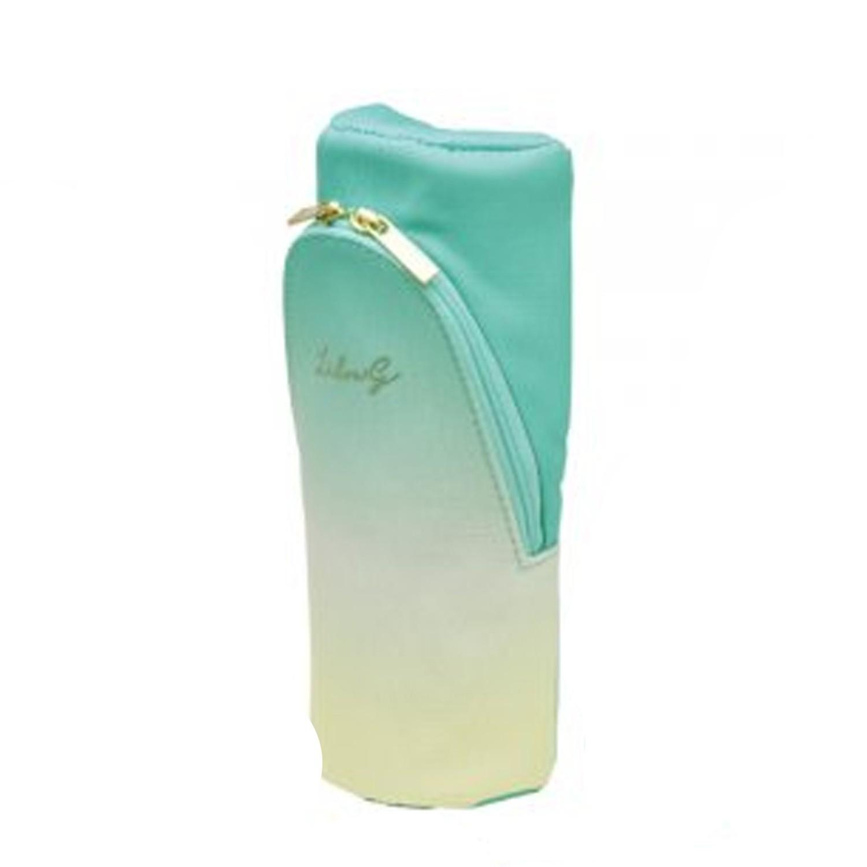 可站立下翻式筆袋/化妝包(附磁鐵)-漸層限定款-薄荷-團購專案