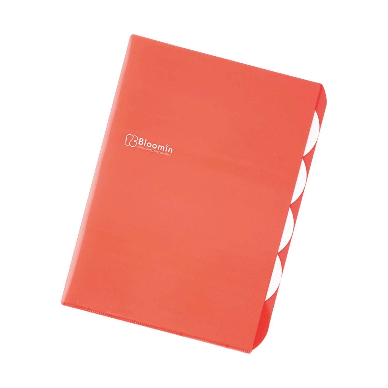 L型五層收納文件夾-暖橘紅 (A4)-團購專案