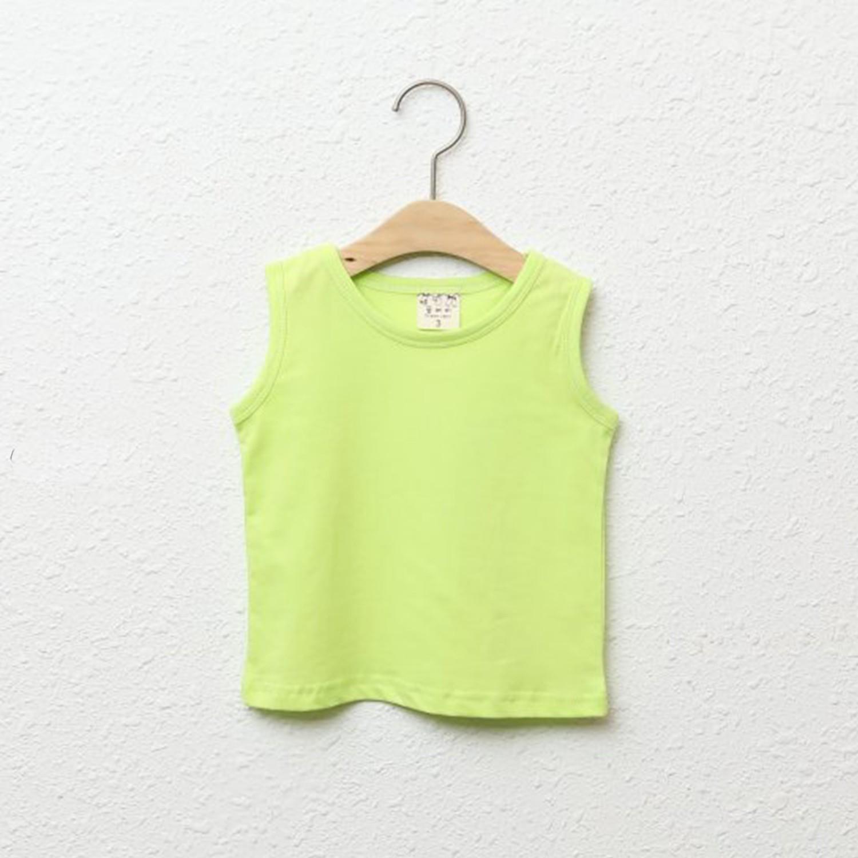 純棉小背心-亮綠 (5[~93cm])